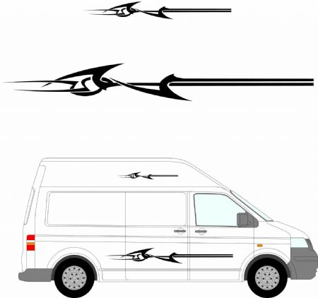 (No.158) MOTORHOME GRAPHICS STICKERS DECALS CAMPER VAN CARAVAN UNIVERSAL FITTING